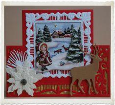 Marianne Design Cards, Christmas Cards, Christmas Ornaments, Design Inspiration, Crafty, Frame, Card Ideas, Corner, Handmade