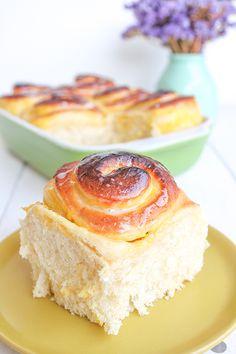 Rollitos de crema pastelera // Custard filling rolls recipe in spanish