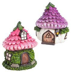 """duplicate; same house as another below but on a different site; costs slightly more but looks like better condition.  Miniature Fairy Garden Cozy Garden Fairy Houses - Set of 2 - """"My Fairy Gardens"""""""
