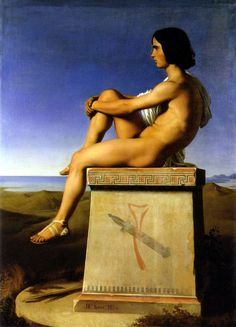 Jean-Hippolyte Flandrin (French, 1809-1864), Polytes, Son of Priam, Observing the Movements of the Greeks, 1834