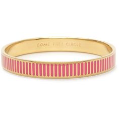 Come Full Circle Idiom Bangle ($40) ❤ liked on Polyvore featuring jewelry, bracelets, accessories, bangles, kate spade, hinged bracelet, bracelet bangle, hardware jewelry, kate spade bangle and kate spade bracelet