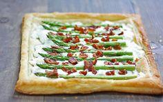 bacon goat cheese asparagus tart