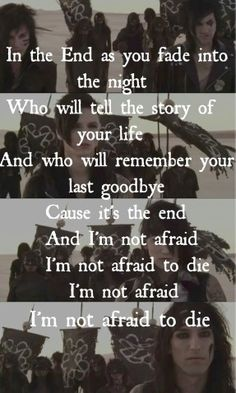In The End - Black Veil Brides