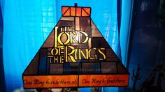 Lord of the Rings stained glass lamp by adelgardo