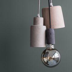 Des suspensions minimalistes en résine avec de jolies couleurs pastel, Broste Copenhagen