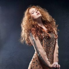FW14 Spirit collection by gino hairandmore INSPIRATION: Medieval, Byzantine, Jeanne d'Arc hairstyles Long red curly hair