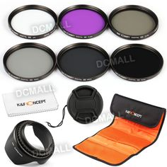58mm FLD UV CPL ND Filter Kit + Sonnenblende Für Canon EOS 70D 60D 600D 1100D
