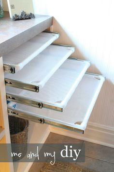 Create pull-out drying racks.
