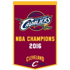 Cleveland Cavaliers Championship Banner measures 2x3 feet, is made of thick wool, and has embroidered Golden State logos. This Cleveland Cavaliers Championship Banner is Officially...