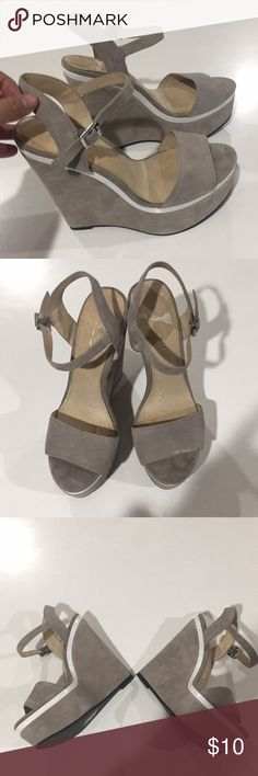 Gray suede platforms under 6 inches tall. Gray suede platforms under 6 inches tall. Aldo Shoes Platforms