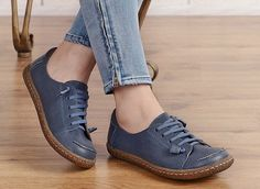 Leather Shoes for Women Oxford Shoes Close Shoes Flat by HerHis