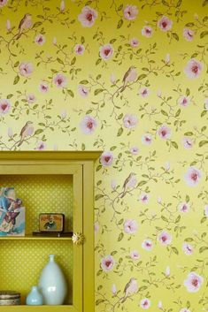 Sanja Magnolia Branch, Motif Floral, Designer Wallpaper, Traditional Design, Pattern Wallpaper, Surface Design, Interior Styling, House Styles, Room