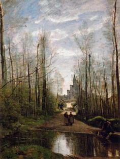 Jean-Baptiste-Camille Corot - The Church of Marissel, near Beauvais…