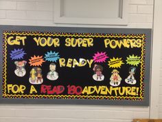 Reading Superheroes Bulletin Board   http://www.teacherspayteachers.com/Product/Reading-Superheroes-Classroom-Theme-745218