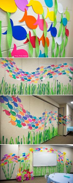 VBS-under-the-sea-decorations-ocean-commotion-school-of-fish-wall.jpg (800×1996)