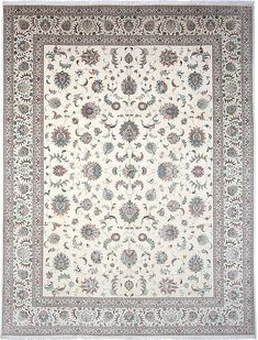 Tabriz DesignPersian Rug Hand Knotted Rugs, Woven Rug, Ivory Rugs, Tabriz Rug, Persian Rug, Colorful Rugs, Carpets, Knots, Foundation