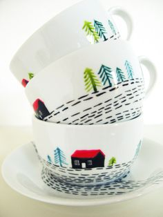 hut cup and saucer
