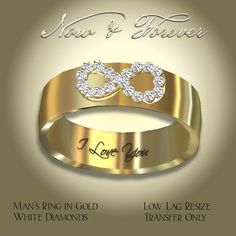 Exquisite Now & Forever Man's Ring Gold
