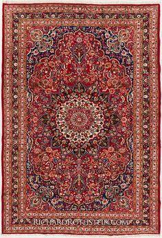 Antique Mashad Oriental Rug C53D9421