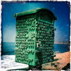 Life Guard Mail Box, La Jolla, California