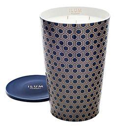 Buy the Ilum Candle - Cologne Retro - from Max Benjamin at AMARA. Hexagon Pattern, Boutique Homes, House Inside, Detail Art, Family Memories, Home Fragrances, Porcelain Vase, Vases Decor, Art Deco Fashion