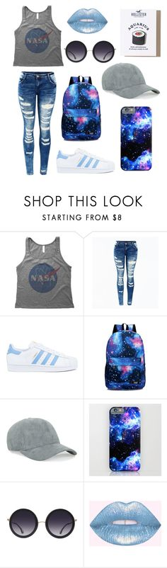 """Aquarius"" by pansexy ❤ liked on Polyvore featuring adidas, Alice + Olivia and Hollister Co."