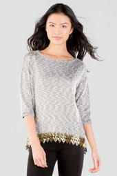 Margo Lace Trimmed Tee