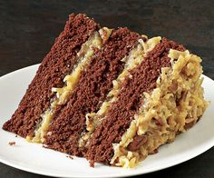 German Chocolate Cake - Substitute with German Sweet Chocolate and Unsweetened Coconut