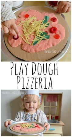 Play Dough Pizzeria - Wings and Roots Nursery Activities, Playdough Activities, Preschool Activities, Preschool Art, Slime, Role Play Areas, Fine Motor Skills Development, Messy Play, Play Doh