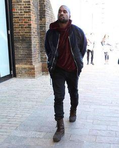 Kanye West wearing the Yeezy 950 Duckboot