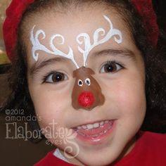 Elf Face Painting by BruceCollinsArt Face Painting Images, Eye Face Painting, Face Painting Designs, Paint Designs, Face Art, Face Paintings, Reindeer Face Paint, Frozen Face Paint, Christmas Fair Ideas