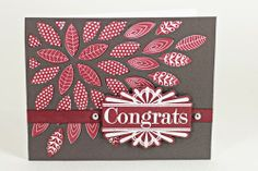 Congrats Card by Erin Lincoln for Papertrey Ink (November 2013)
