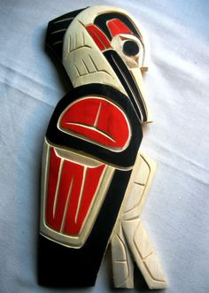 Authentic-Northwest-Coast-native-carving-CRANE-signed-First-Nations
