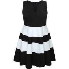PRE-ORDER - Black And White Monochrome Block Stripe Skater Dress $91.00 http://www.curvyclothing.com.au/index.php?route=product/product&path=95_105&product_id=8049&limit=100