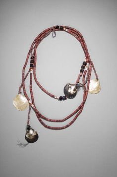 Exchange Necklace (Bagi)  Date: 20th Century  Made At: Papua New Guinea  Medium: Spondylus shell, oyster shell, seed and fiber