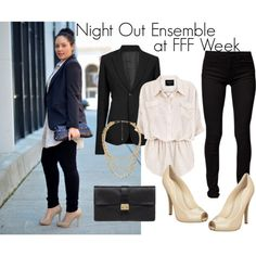 """""""Night Out Ensemble"""" by taneshaawasthi on Polyvore"""