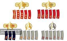 Click this image to show the full-size version. Navy Rank Insignia, Navy Ranks, Star Trek Uniforms, Military Ranks, Great Scott, Warrant Officer, Clean Slate, Military Modelling, Star Trek Ships