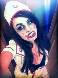 Nurse zombie make up