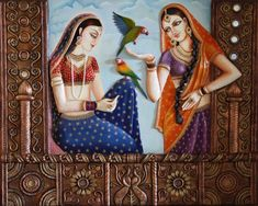 Does anyone in this forum has pictures / sketches for Rajasthani Painting. If yes kindly do share the pics. Clay Wall Art, Mural Wall Art, Mural Painting, Clay Art, Murals, Madhubani Art, Madhubani Painting, Art Sketches, Art Drawings