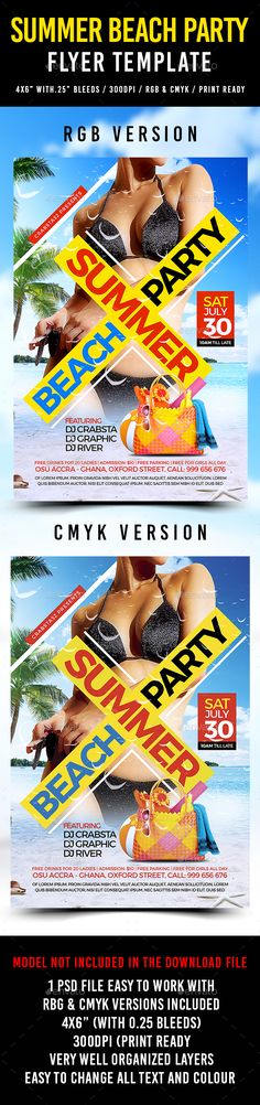 Summer Beach Party Flyer Template PSD. Download here: http://graphicriver.net/item/summer-beach-party-flyer-template/16775731?ref=ksioks