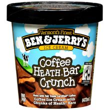 """Coffee + Heath Bars = My favorite ice cream. Sadly, they have changed the ingredients to generic toffee. Now called """"Coffee Bar Crunch"""". Ice Cream Flavors, Ice Cream Recipes, Kosher Recipes, Kosher Food, Grilled Cheese Recipes, Coffee Ice Cream, Heath Bars, Peanut Brittle, Coconut Macaroons"""