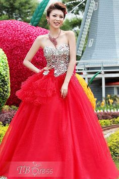 $ 197.69 Glamorous Ball Gown Floor-Length Sweetheart Wedding Dress