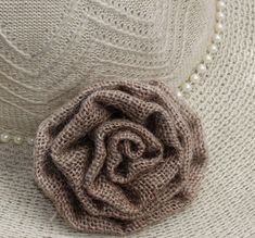 DIY: How To Make A Burlap Rosette Using Sewing Machine | Reduce. Reuse. Recycle. Replenish. Restore.