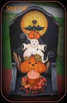 One of Jamie's. I have something very similar to this on a globe, I put it out every Halloween.