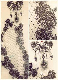 Lace tattoo arm