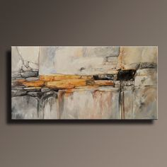 """48"""" Large ORIGINAL ABSTRACT Yellow Gray Painting on Canvas Contemporary Abstract  Modern Art wall decor - Unstretched door itarts op Etsy https://www.etsy.com/nl/listing/214049430/48-large-original-abstract-yellow-gray"""