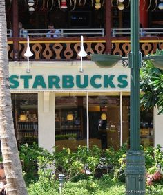 Starbucks! So happy to find this at the base of our Aston Waikiki Beach Hotel!
