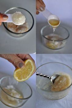 Homemade Beauty Product: Lip Scrub: Get ready for winter lips.homemade lemon and honey lip scrub.this works! Beauty Secrets, Beauty Hacks, Diy Cosmetic, Beauty Care, Hair Beauty, Diy Beauté, Diy Crafts, Diy Spa, Do It Yourself Inspiration
