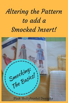 Sewing Patterns Easy How to alter a pattern to use a smocked insert instead of smocking the skirt. - How to alter a pattern to use a smocked insert instead of smocking the skirt. Smocking Baby, Smocking Plates, Smocking Patterns, Dress Sewing Patterns, Skirt Patterns, Coat Patterns, Blouse Patterns, Sewing Hacks, Sewing Tutorials