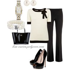 """Off-white Black"" by lisa-eurica on Polyvore"